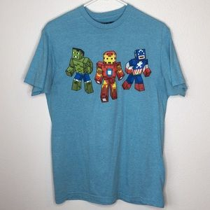 Marvel Minecraft Superhero Shirt